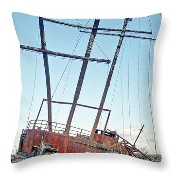 Forgotten Landmark Throw Pillow