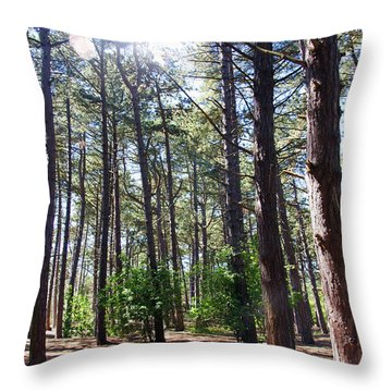 Formby. Woodland By The Coast Throw Pillow