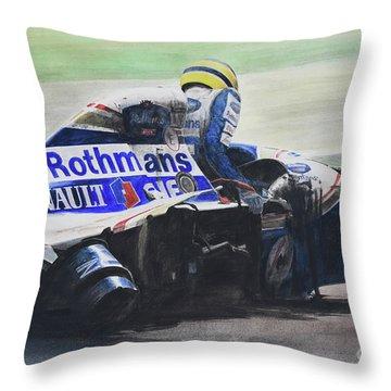 Formula Alone Throw Pillow