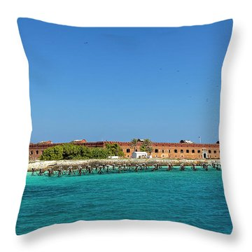 Fort Jefferson, Dry Tortugas National Park Throw Pillow