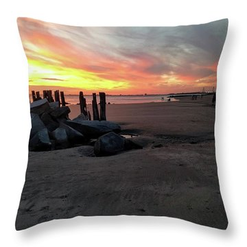Fort Moultrie Sunset Throw Pillow