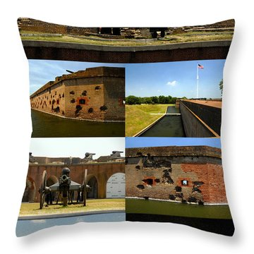 Fort Pulaski National Monument Poster A Throw Pillow