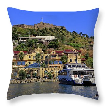 Throw Pillow featuring the photograph Fort St Louis by Tony Murtagh