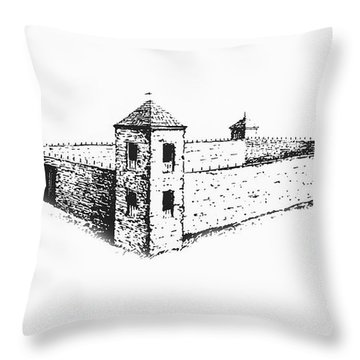 Throw Pillow featuring the photograph Fort St. Vrain by Jon Burch Photography