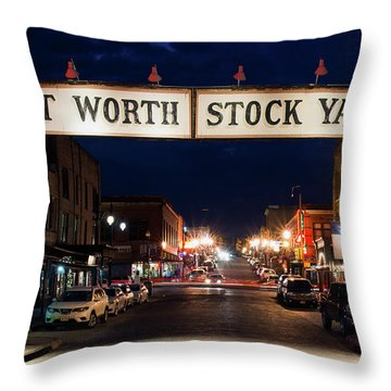 Fort Worth Stock Yards 112318 Throw Pillow