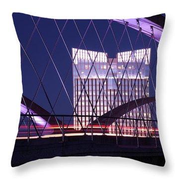 Fort Worth West Seventh Street Bridge V2 021419 Throw Pillow