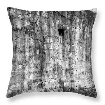 Throw Pillow featuring the photograph Fortification by Steve Stanger