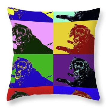 Foster Dog Pop Art Throw Pillow