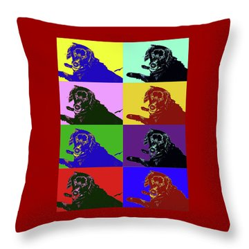 Foster Dog Pop Art Throw Pillow