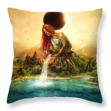 Fountain Of Eternity Throw Pillow