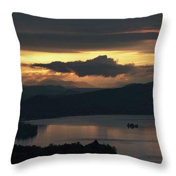 Fourth Lake First Light Throw Pillow