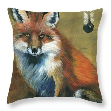 Fox Shows The Way Throw Pillow