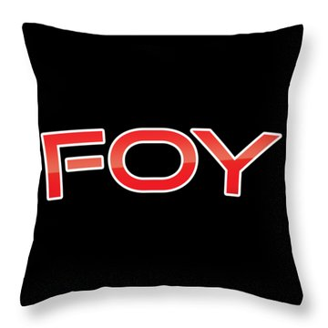 Throw Pillow featuring the digital art Foy by TintoDesigns