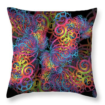 Fractal Illusion Throw Pillow