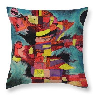 Fractured Fire Throw Pillow