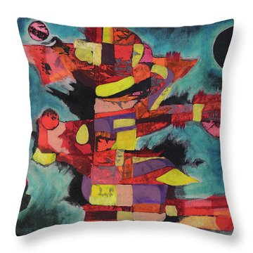 Fractured Fire Throw Pillow