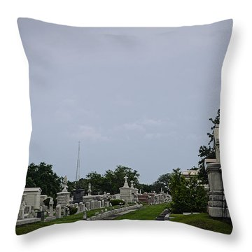 Framed In The Cemetery Throw Pillow