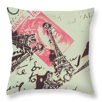 Francs Script Throw Pillow