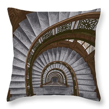 Frank Lloyd Wright - The Rookery Throw Pillow