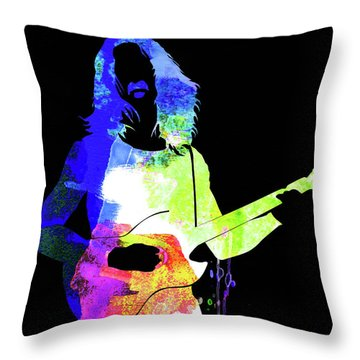 Frank Watercolor II Throw Pillow