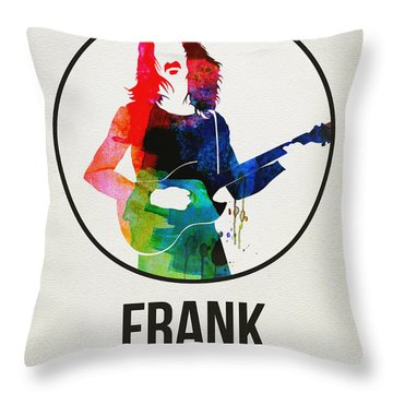 Frank Zappa Watercolor Throw Pillow