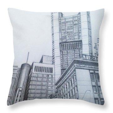 Frankfurt-germany Throw Pillow