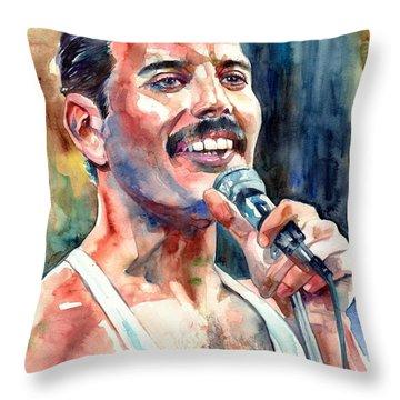 Freddie Mercury Live Aid Throw Pillow