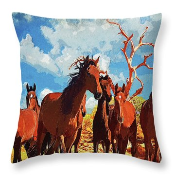 Free Spirits Throw Pillow