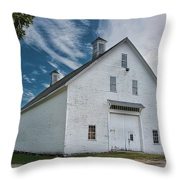 Throw Pillow featuring the photograph Freeport Barn by Guy Whiteley