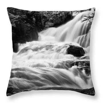 French Alps Stream Throw Pillow