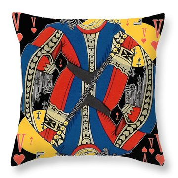 French Playing Card - Lahire, Valet De Coeur, Jack Of Hearts Pop Art - #2 Throw Pillow