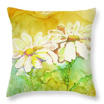 Fresh As Daisies Throw Pillow