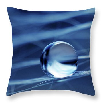 Throw Pillow featuring the photograph Fresh Blue by Michelle Wermuth