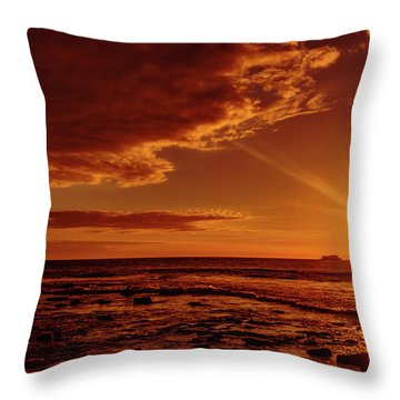 Friday Sunset Throw Pillow