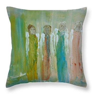 Friendship Angels Throw Pillow