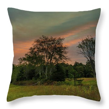 Pine Lands In Friendship Sunrise Throw Pillow