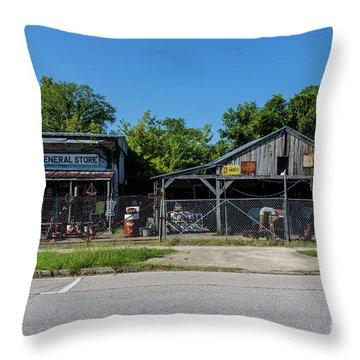 Frog Hollow General Store - Augusta Ga Throw Pillow