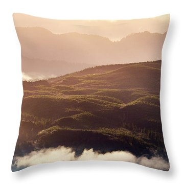 Throw Pillow featuring the photograph From Neahkahnie by Whitney Goodey