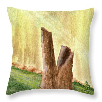 From Ruins Comes New Life Throw Pillow