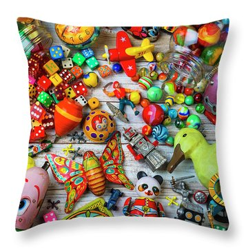 From The Old Toy Box Throw Pillow