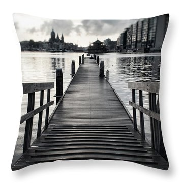 From The Solid Ground... Throw Pillow