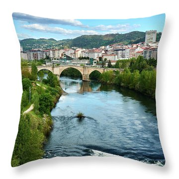 From The Top Of The Millennium Bridge Throw Pillow