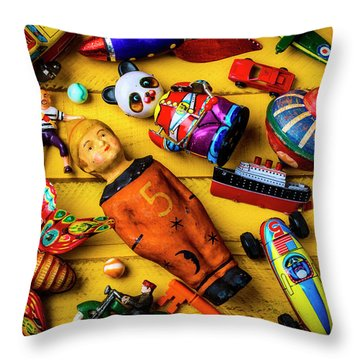 From The Toy Box Throw Pillow