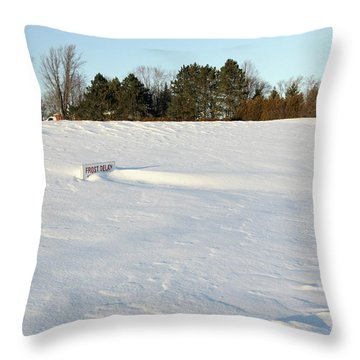 Frost Delay Throw Pillow