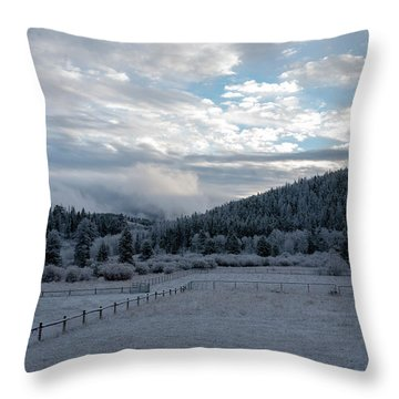 Frosted Sunrise 1 Throw Pillow