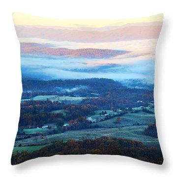 Frosty Autumn Throw Pillow