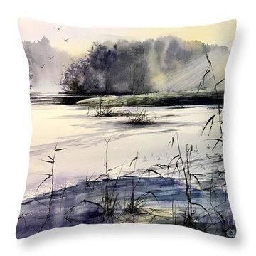 Frozen Pond Throw Pillow