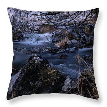 Frozen River II Throw Pillow
