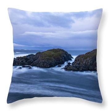 Frozen Water Movement Throw Pillow