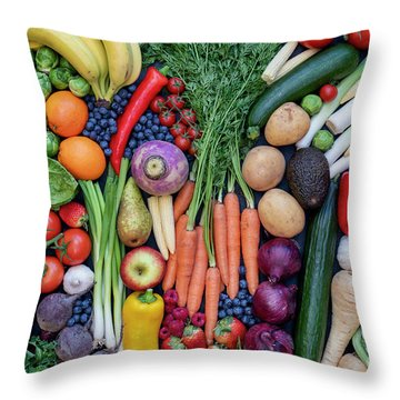 Throw Pillow featuring the photograph Fruit And Vegetables by Tim Gainey